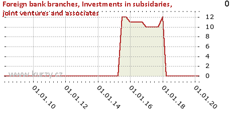 Investments in subsidaries, joint ventures and associates,Foreign bank branches