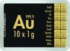 Zlatý slitek 10x1g Combibar VALCAMBI (Švýcarsko)