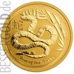 Zlatá mince 1/10 oz (trojské unce) ROK HADA Austrálie 2013