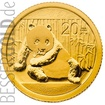 Zlatá mince 1/20 oz (trojské unce) PANDA Čína