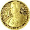 Zlatá půluncová mince 25 NZD Karel I. 2016 Proof