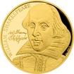 Zlatá půluncová mince 25 NZD William Shakespeare 2016 Proof