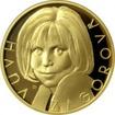 Zlatá půluncová medaile Hana Zagorová 2017 Číslováno Proof