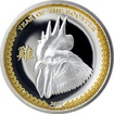 Stříbrná mince pozlacený Year of the Rooster Rok Kohouta High Relief 2017 Proof