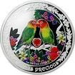 Stříbrná mince Papoušci 1 Oz Love is Precious 2017 Proof