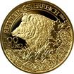 Zlatá mince Prase divoké 2014 Proof