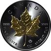 Stříbrná Ruthenium mince pozlacený Maple Leaf 1 Oz Golden Enigma 2016 Standard