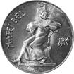 Stříbrná mince 100 Kčs Matej Bel 300. výročí narození 1984
