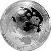 Stříbrná mince 5 Oz Maple Leaves in Motion 2017 Proof (.9999)