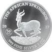 Stříbrná investiční mince The African Springbok 1 Oz 2017