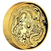 Zlatá mince 2 Oz Drak a Fénix High Relief 2017 Proof