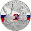 Stříbrná investiční mince Maska z regionu Slovensko - Heľpa 1 Oz 2015