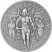 Stříbrná mince Gladiators 2 Oz Secutor 2017 Antique Standard
