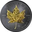 Stříbrná Ruthenium mince pozlacený Maple Leaf 1 Oz Golden Enigma 2017 Standard