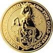 Zlatá investiční mince The Queen's Beasts The Unicorn 1/4 Oz 2018