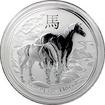 Stříbrná investiční mince Year of the Horse Rok Koně Lunární 1 Kg 2014
