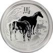 Stříbrná investiční mince Year of the Horse Rok Koně Lunární 1 Oz 2014