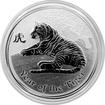 Stříbrná investiční mince Year of the Tiger Rok Tygra Lunární 1/2 Oz 2010