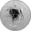 Stříbrná investiční mince Year of the Ox Rok Buvola Lunární 1 Kg 2009