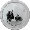 Stříbrná investiční mince Year of the Rabbit Rok Králíka Lunární 2 Oz 2011