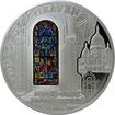 Stříbrná mince Bazilika Sacré-Coeur Okno Sv. Ludvíka 2014 Proof