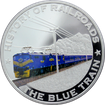 Stříbrná mince kolorovaný The Blue Train History of Railroads 2011 Proof