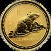 Zlatá investiční mince Year of the Mouse Rok Myši Lunární 1 Oz 1996
