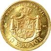 Zlatá mince 10 Koruna Oskar II. 1876 ST