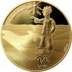 Zlatá mince Malý princ: Hvězdy jsou průvodci 1/4 Oz 2015 Proof