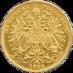 Zlatá mince Dvacetikoruna Františka Josefa I. Rakouská ražba 1893