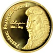 Zlatá mince Frédéric Chopin Miniatura 2007 Proof