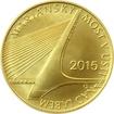 Zlatá mince 5000 Kč Mariánský most v Ústí nad Labem 2015 Standard