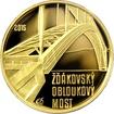 Zlatá mince 5000 Kč Žďákovský obloukový most 2015 Proof