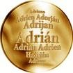 Slovenská jména - Adrián - velká zlatá medaile 1 Oz