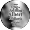 Česká jména - Albert - stříbrná medaile