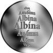 Česká jména - Albína - stříbrná medaile
