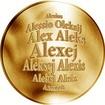 Česká jména - Alexej - zlatá medaile