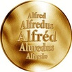 Slovenská jména - Alfréd - velká zlatá medaile 1 Oz
