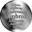 Česká jména - Ambrož - stříbrná medaile
