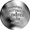 Česká jména - Andrea - velká stříbrná medaile 1 Oz