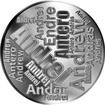 Česká jména - Andrej - velká stříbrná medaile 1 Oz