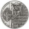 Arnošt z Pardubic - 650. výročí úmrtí stříbro patina
