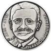 Pierre de Coubertin - 150. výročí narození Ag patina