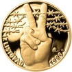 Sada zlatého dukátu a stříbrného odražku 17. listopad 1989 - proof