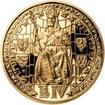 Sada zlatého dukátu a stříbrného odražku Prašná brána - proof