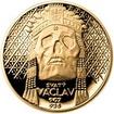 Sada zlatého dukátu a stříbrného odražku Relikvie Svatého Václava - II