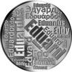 Česká jména - Eduard - velká stříbrná medaile 1 Oz