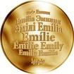 Česká jména - Emílie - zlatá medaile