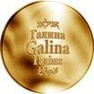 Česká jména - Galina - zlatá medaile