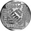 Česká jména - Gizela - velká stříbrná medaile 1 Oz